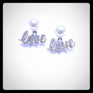 Love pearl earrings from origami owl